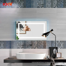 Modern Bathroom Wall Mounted  Anti-Fog Smart Led Mirror With Time Display
