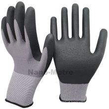 NMSAFETY cor mão de nitrilo trabalho luvas de segurança de mineração