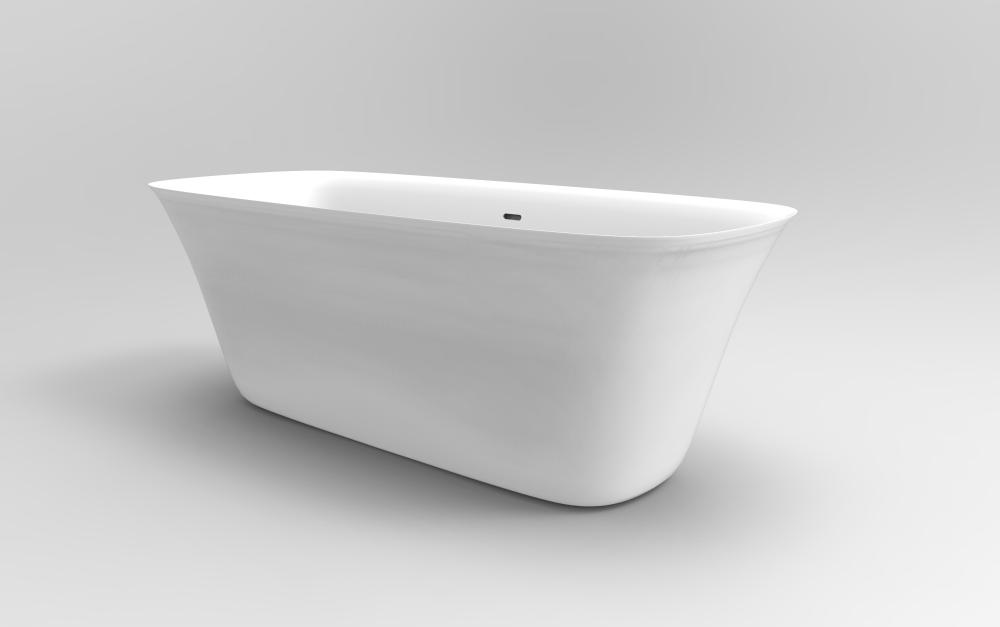 Wit Acrylwekend voetstuk Back To Wall Bath Tub