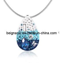Sw Elements Crytal Indicolite Color Water Drop Pendentif Collier