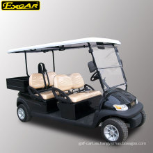 Carrito de golf eléctrico de 4 asientos operado con batería 48V con caja de carga