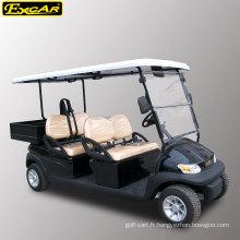 48V batterie exploité 4 places chariot de golf électrique avec coffre de chargement