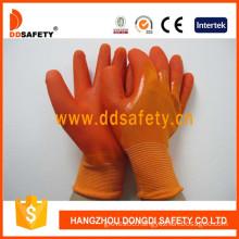 Orange Nylon PVC Dipping Glove Working Gloves (DNL511)