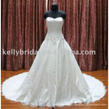 2012Elegant Lace A-line design embroider wedding dresses online
