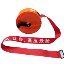 Waterproof red retractable warning tape barricade caution tape