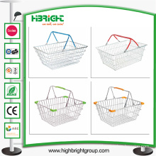 Stackable Metal Wire Hand Shopping Basket
