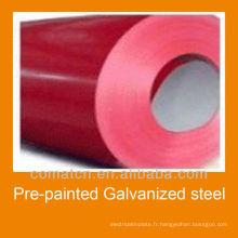 Bobines d'acier galvanisé pré-peint de bonne qualité et prix