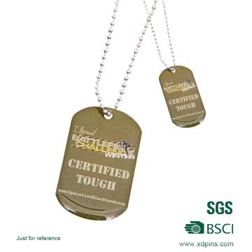 Custom Design Gold Färbung mit Erkennungsmarken