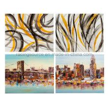 Pintura al óleo pintada a mano del paisaje del paisaje abstracto para la decoración de la pared