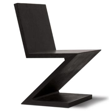 Gerrit t rietveld zig zag stuhl for Design stuhl zig zag