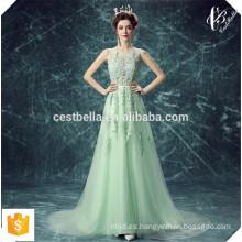 Alibaba luz verde vestido de noche niñas de fiesta de Navidad noche vestido formal vestido de baile