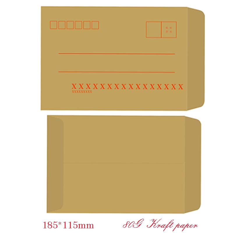 An envelope paper bag with a printable logo