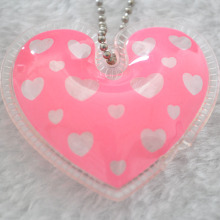 Heart Shape Inflatable Hang Tag for Kids Feather Jacket Label