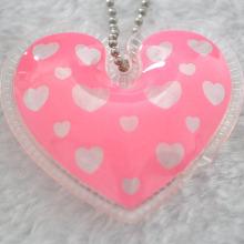 Etiqueta engomada inflable de la forma del corazón para la etiqueta de la chaqueta de la pluma de los niños