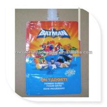 Bolsa de aluminio del jugo y del canalón de la bebida / bolsa de plástico del canalón de agua potable / bolsa de empaquetado líquida de la bolsa del canalón