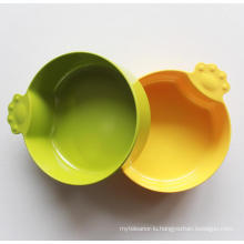 (BC-PE1008) High Quality Reusable Melamine Cute Pet Basin