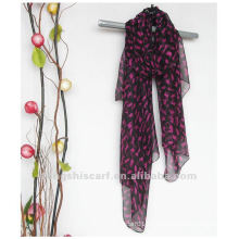 animal printed long scarf