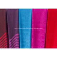 Worsted cashmere jacquard shawl