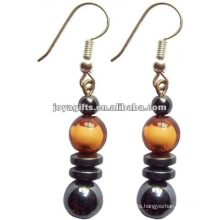 Fashion Hematite Plastic Beads Earring