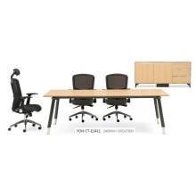 Neues Design Holz Rechteck Konferenztisch mit Metall Beine (FOH-CT-E2411)