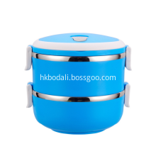 Two Layer Colorful Stainless Steel Round Lunch Box