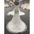 Alibaba elegante al por mayor sin tirantes elegante una línea de vestido de novia Últimos vestidos de novia