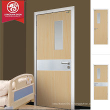 Conception de la porte de l'hôpital HPL, intérieur de l'usine Simple Eco-friendly MDF Composite Wooden Door Choice