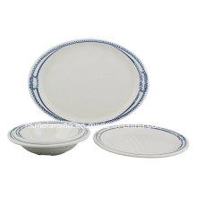 Ensemble de vaisselle en mélamine avec 4PCS (TZ3089)