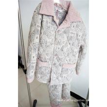 pijama de algodão do projeto novo adultos sleepwear