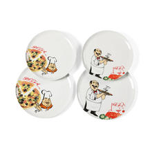 Céramique de porcelaine gros desservant plaque Pizza plat