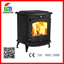 CE clássico WM702A, fogão de carvão de queimadura de madeira autônomo