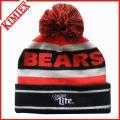 Custom OEM malha Jacquard Acrílico inverno Beanie Hat
