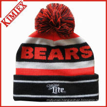 Custom OEM Knitted Jacquard Acrylic Winter Beanie Hat