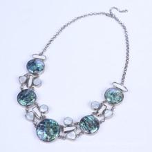 Abalone Muschel Halskette mit Perle Meerwasseraqua