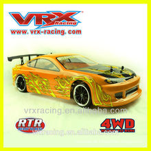 VRX Racing 1/10 brushed electric drift car, 4WD electric rc toy cars