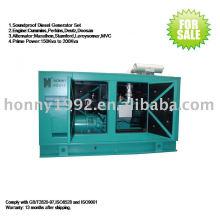 Generador diesel de bajo ruido de 50 Hz insonorizado 140kW 175kVA