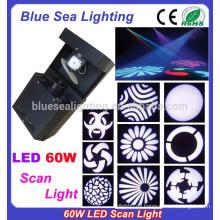 60w führte Scan-Licht Disco Ausrüstung dj Lichter