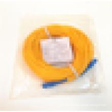 Longueur personnalisé SC / UPC Singlemode Simplex Yellow Fiber Optic Patch Cord