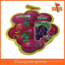 Made in China Fruit shaped special shaped pouch for candy