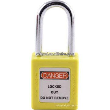 CE-Zertifizierung genehmigt lange Schäkel ABS Sicherheitsvorhängeschloss