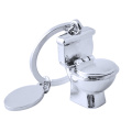 Nouveauté Porte-clés en forme de toilette Porte-clés en métal unique