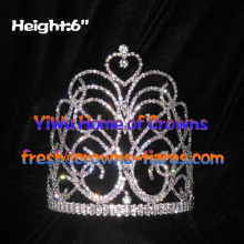 Wholesale 6inch Crystal Queen Crowns