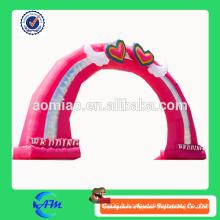 Arche gonflable de mariage en arc rose gonflable à vendre