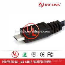 Cable de USB 2.0 de la alta calidad 1.5M Micro USB al cable de la carga de la sinc. De los datos del micr3ofono B para el teléfono elegante