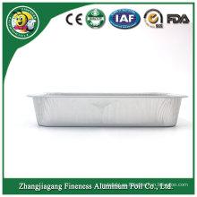 Compartimiento de calidad garantizado Recipiente de papel de aluminio para alimentos con microondas