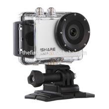 IShare S600W WiFi спортивная камера FHD 1080P 30M Водонепроницаемая видеокамера для спорта с шлемом Миниатюрная подводная камера
