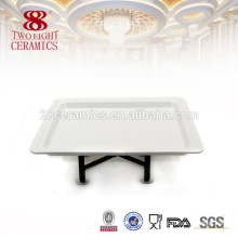 Chaozhou beauty buffet dishes plain white wholesale dishes for buffet