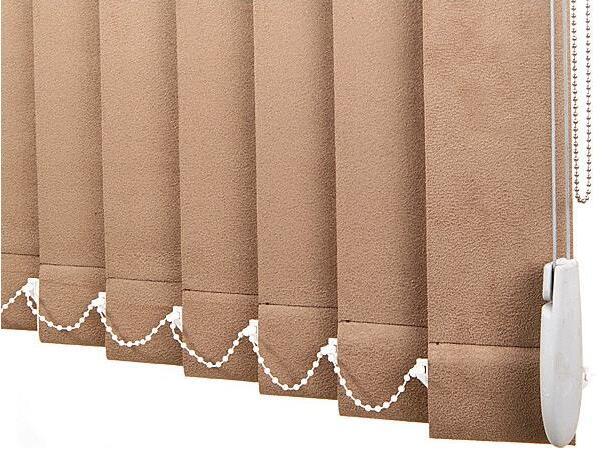 Manual vertical blinds