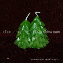 Свеча нового типа Рождественская елка 2015