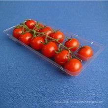 Plateau en plastique de boursouflure d'emballage alimentaire de pp, nourriture congelée jetable / viande / fruit / récipient de légume